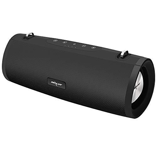 Bluetooth Lautsprecher, 4,7 x 5,9 x 6,06 Zoll Bluetooth Lautsprecher Tragbarer Bluetooth 5.0, 360° Stereo Sound Intensiver Bass, Kabelloser HiFi Lautsprecher mit App für Heim/Outdoor, Party, Urlaub