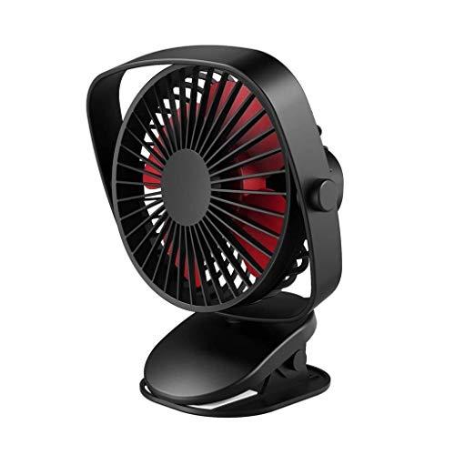 USB-ventilator, Mini Clip Fan Desk Fan 360 ° Verstelbare Roterende Elektrische Ventilator for Slaapkamer & Buiten, Speciaal for Kinderwagen Koeling Desktop Tafelventilatoren (Zwart)