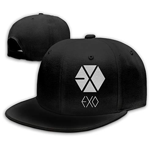 Lucyhu Verstellbar Damen Herren Exo Logo Logo Black Snapback Baseball Hat Cap Baseballcap Kappe Flatbrim Mütze Für Jungen Mädchen