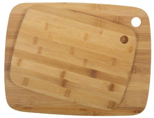 Core Bamboo Classic Cutting Board Combo Pack, Medium/Large