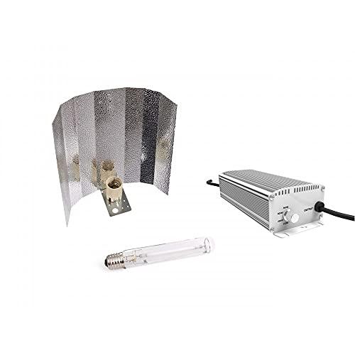 Kit de iluminación Vanguard 600W HPS - (Balastro - Bombilla - Reflector - Poleas)