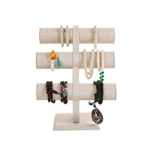 LXX Cajas de joyería T-Bar Rack Organizador de exhibición de joyas Soporte para cadena, reloj, collar, colgante, pulsera, diadema trenzada cofres de joyería (color: A)