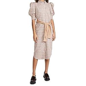 Derek Lam 10 Crosby Women's Luis Plaid Dress with Waist Tie
