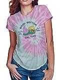 Nickelodeon Sponge Square Pants and Patrick Juniors Graphic Tee Shirt (Pink Tie Dye, Large)
