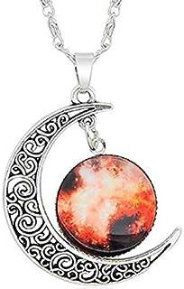 Legisdream Colgantes Luna Collar y diseño de Las medallas Galaxy Joya de Plata Originales Ideas de Regalos para Cualquier ...