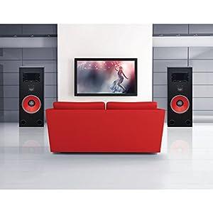 BIC America RTR-EV15 15-Inch 3-Way Eviction Series Bi-Ampable Floor Speaker with High-Efficiency Horn Tweeter