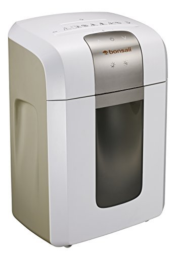 Bonsaii 240-Minute Heavy-Duty Shredder, P-6 High-Security Micro-Cut Paper Shredder for Home & Office Use, Shreds CD/Credit Cards, 5-Sheet Shredding Capacity, White (5S30)