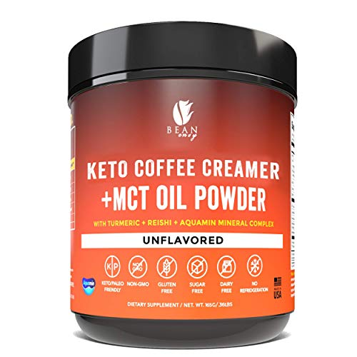 Bean Envy Keto Coffee Creamer - Coconut Milk Powder + MCT Oil Powder - Superfood Blend for Energy & Immunity Boost. Perfect for Keto & Stress management (Unflavored, 5.81 Ounce (Pack of 1))