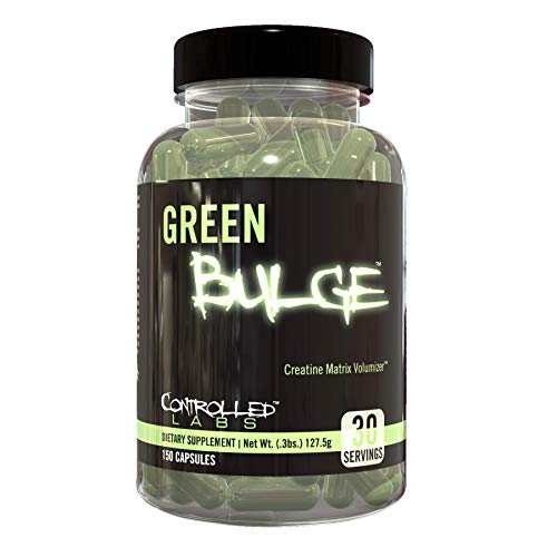 Controlled Labs Green Bulge Supplement, 30 Servings Advanced Creatine Matrix Volumizer, Improve Strength, Stamina, Performance, and Muscle Recovery, Caffeine and Stimulant Free for Both Men and Women