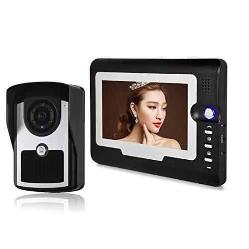 SEXTT Intelligente Video-Türklingel, elektronisch gesteuerte 7-Zoll-High-Definition-Türklingel-Video-Gegensprechanlage mit regendichter Nachtsicht-Türklingel