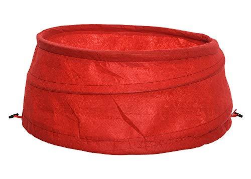 zeitzone Abdeckung für Christbaumständer Verkleidung Hülle Faltbar Pop-Up Stoff Rot