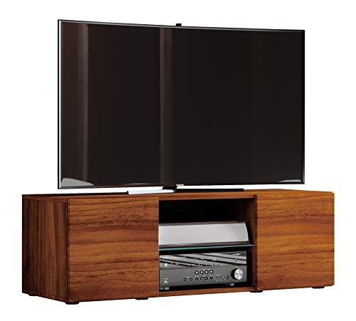 VCM TV Lowboard Fernseh Schrank Möbel Tisch Holz Sideboard Medien Rack Bank Kern-nussbaum 40 x 115 x 36 cm
