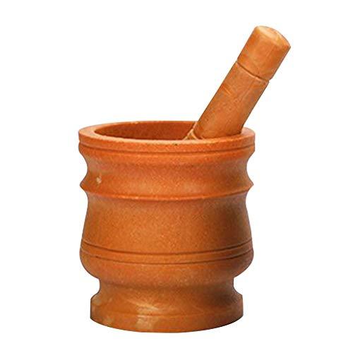 YOUJING Cortador de ajo, Juego de mortero y mortero de Granito, Molinillo de Especias y Hierbas de Piedra, Molinillo sólido, Juego de Cocina
