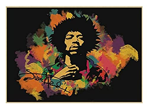 ZYHSB 1000 Piece Jigsaw Puzzle Electric Guitar God Jimi Hendrix Poster Adults Children Wooden Toy Educational Game DE159HY