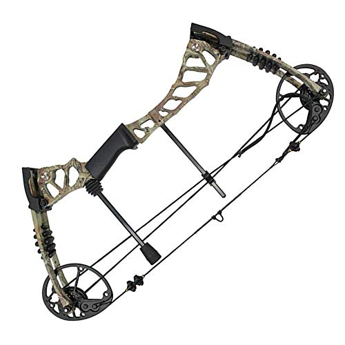 SHARROW Compound Bow Kit with Pulley and All Accessories 40-60LBS Adult Camo Right Hand for Archery Hunting (Camo+Arrows)