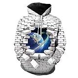 RONGXIE Sudadera con capucha para hombre, pintura al óleo, impresión de inyección de tinta con capucha, talla grande, manga larga, sudadera gráfica con capucha transpirable (color: W05654, tamaño: XL)