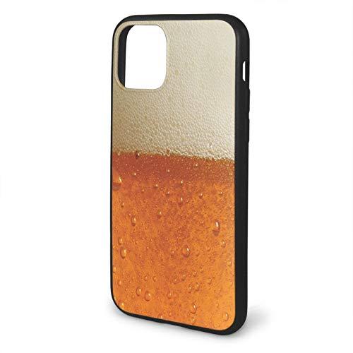 VEELFF Funda compatible con iPhone 11 Pro-5.8, funda de silicona líquida, diseño de tema Beer Buzz
