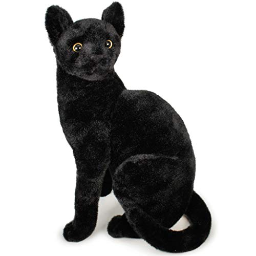 Boone The Black Cat - 13 Inch Stuffed Animal Plush - by Tiger Tale Toys