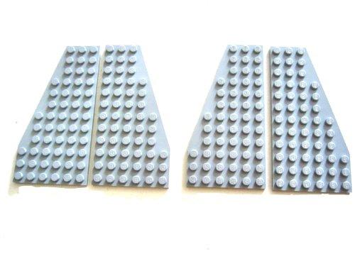 LEGO STAR WARS - 2 PAARE graue FLÜGEL - FLÜGELPLATTEN 10030 (30355+30356)