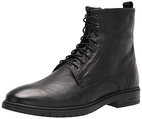 Steve Madden Men's Crowley Combat Boot, Black, 8