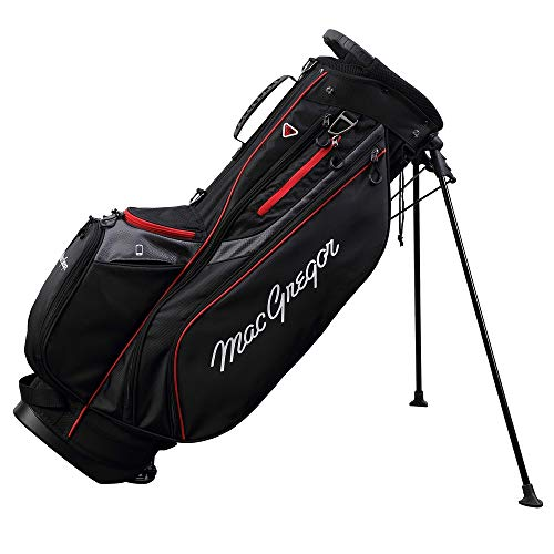 """MacGregor Golf Response Stand Bag with 9"""" 6 Way Divider Top Black/Red"""