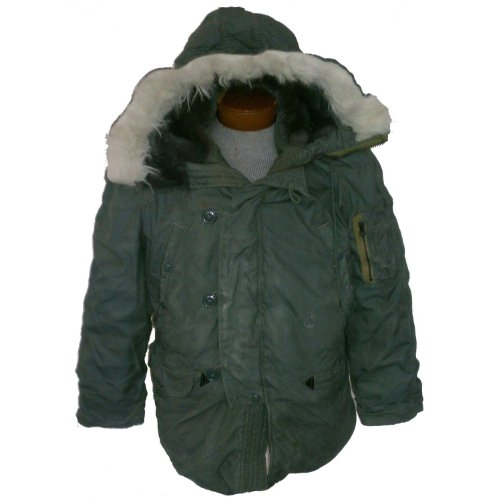 Military Outdoor Clothing Previously Issued U.S. G.I. Olive Drab Men's Medium United States Air Force N-3B Parka
