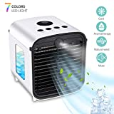 Tragbarer Mobile Klimagerät Klimaanlage usb Tischventilator Mini Luftkühler mit buntem Nachtlicht für Büro Camping Hause Schlafzimmer