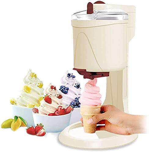Máquina de helado de servir suave, hogar pequeño BRICOLAJE Cocina Mini Mini Fruit Fruit Soft Soft Cono Helado Helado, Saludable, Simple On Empuje Operación, Favorito de los niños