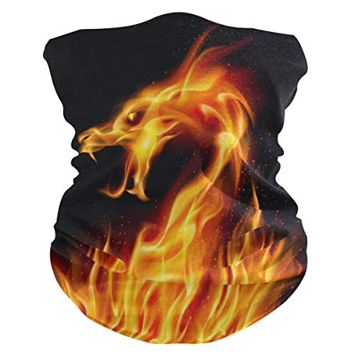 Funnyy Abstracto Dragón Fiery Headwear Cuello Polaina, Bandana, Diadema, pasamontañas, cubierta para el polvo, sin costuras, mágico, pañuelo para la cabeza, multifuncional, diadema para deportes al aire libre