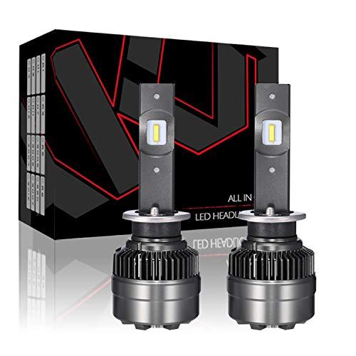 Kit ampoules de phares à LED, alliage d'aluminium aviation 6063 jusqu'à 5000H, éclairage de perles de lampe CSP 8400LM 70W IP67, 2PCS,9005/HB3