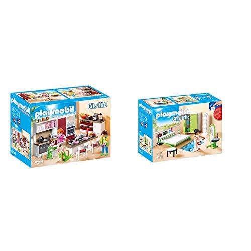 PLAYMOBIL City Life Cocina, a Partir de 4 Años (9269) + City Life Dormitorio, a Partir de 4 Años (9271)
