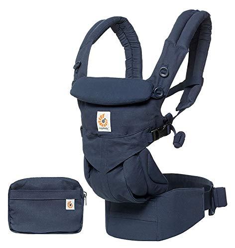 Ergobaby Omni 360 Babytrage für Neugeborene bis Kleinkind, Ergonomische 4-Positionen Baby-Tragetasche Bauchtrage Rückentrage, Midnight Blau, BCS360BLU