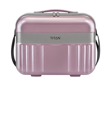 TITAN Handgepäck Kosmetikkoffer mit Liquids Bag + Aufsteckfunktion, Gepäck Serie SPOTLIGHT: Edles Beautycase in trendigen Farben, 831702-12, 38 cm, 21 Liter, wild rose (rosa)