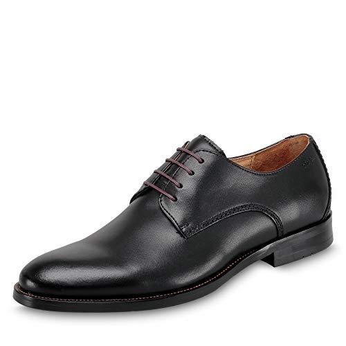 DIGEL 1001956 Herren Schnürschuhe aus Nappaleder mit eleganter Gummilaufsohle, Groesse 43, schwarz