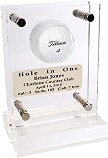 Acrylic Hole in One Golf Ball Trophy with Free Engraved Plate