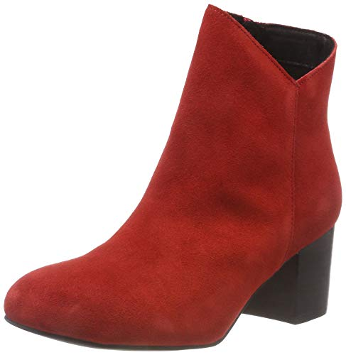 Bianco Damen Suede V-Cut Boot Stiefeletten, Rot (Red 441), 37 EU