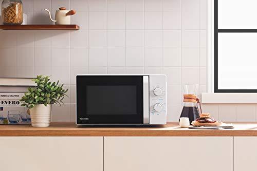 Toshiba MW2-MG20PF Forno Microonde Grill Combinato, 20 L, 5 Livelli di Potenza Regolabili, Luci LED Integrate, 800 W, Grill 1000 W, 44x33.4x25.9 cm, Bianco