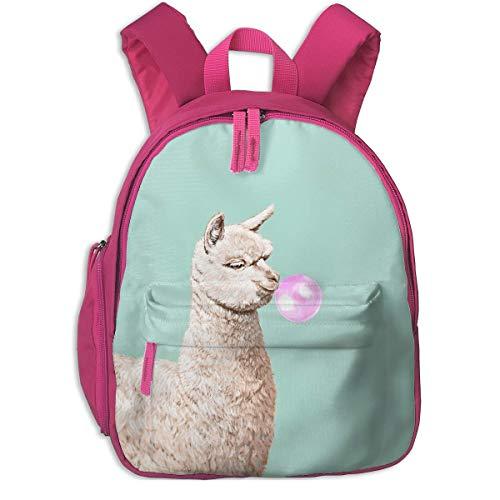 ADGBag Zaino per bambini Zaino Alpaca Chewing Bubble Gum Children's/Kids School/Nursery/Picnic/Carry/Travelling Bag Backpack Daypack Bookbags