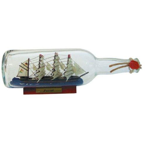 magicaldeco Flaschenschiff- Buddelschiff- Schiff in Flasche- Passat - L 29 cm