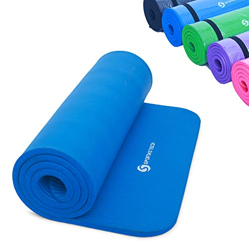 Sportastisch Top-Material¹ Gymnastikmatte Yogamatte Gym Mat Pro mit Tragegurt & E-Book, rutschfeste Sportmatte Fitnessmatte, Extra Dicke Trainingsmatte mit biszu 3 Jahre Garantie² (Yoga Sport Matte)