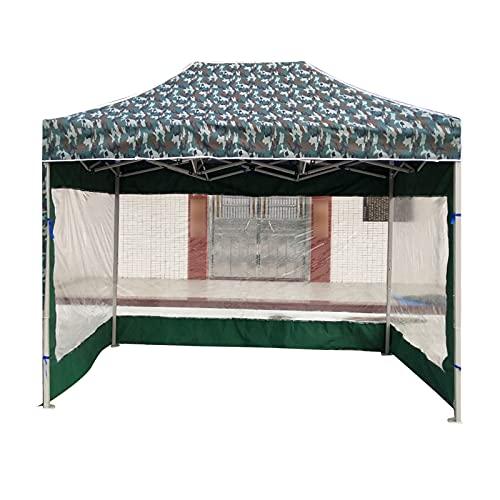 Gazebo 2 x 3 m, 3 paredes laterales transparentes al aire libre jardín camuflaje tienda portátil toldo retráctil fácil de montar cenador comercial (tamaño: 2 x 3 m)