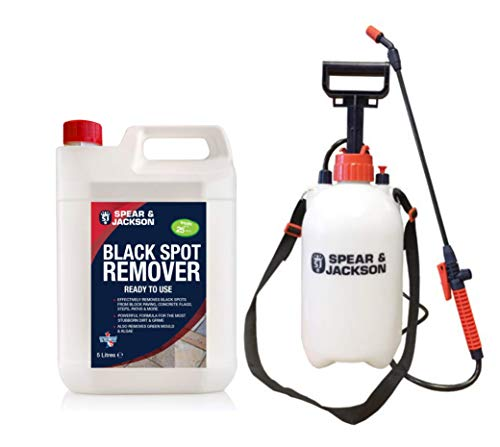 Spear and Jackson 5L Black Spot Remover - 5L Garden Pressure Sprayer - Path Cleaner Ready To Use - Mould Remover, Algae Remover