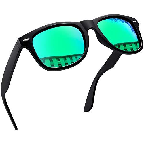 Joopin Gafas de Sol Polarizadas Hombre Retro Clásico Gafas Protección UV400 Vintage Original Mujer 100% Colección de Diseñador Verde