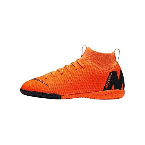 Nike Unisex-Kinder Mercurial SuperflyX VI Academy Indoor Fußballschuhe, Orange (Orange/Schwarz Orange/Schwarz), 37.5 EU