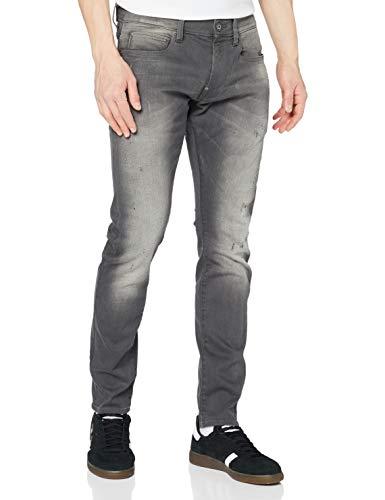 G-STAR RAW Herren Revend Skinny Jeans, Grau (Light Aged Destroy 6132-1243), 36W / 36L