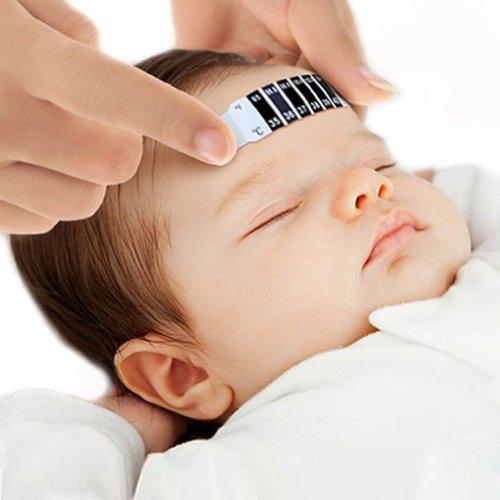 Neu, Wiederverwendbar, Kinder, Saugling, Sicherheits, Stirn Streifen Thermometer, Baby Temperatur Fieber Korper Test