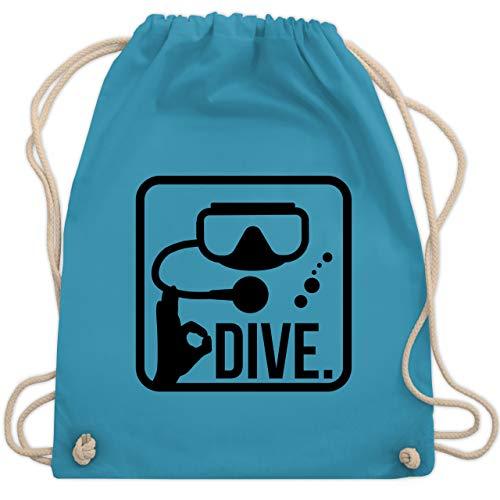 Shirtracer Wassersport - Dive. - Unisize - Hellblau - stoffbeutel taucher - WM110 - Turnbeutel und Stoffbeutel aus Baumwolle