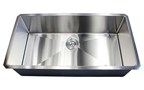 Ariel 36' x 19' Single Bowl Undermount Kitchen Sink