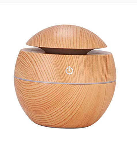 Wood Grain Mini Air Humidifier Ultrasonic Usb Aroma Diffuser Led Night Light Electric Essential Oil Aroma Diffuser