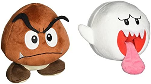 Little Buddy Mario Plush Doll Set of 2 - Ghost Boo and Goomba by Little Buddy